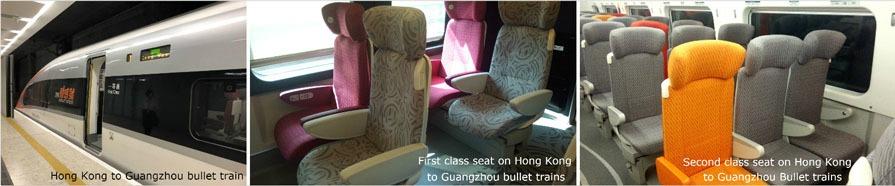 Seats on the Guangzhou – Hong Kong High-Speed Train