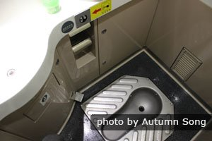 Toilet on an ordinary train