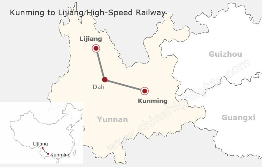Kunming - Lijiang high speed rail, China bullet train