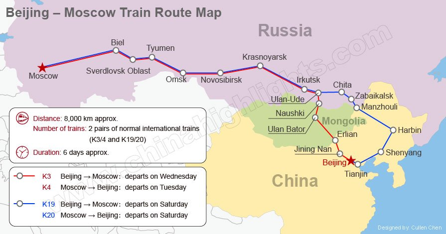 Beijing to Moscow