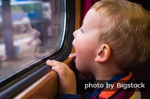 Train travel with kids
