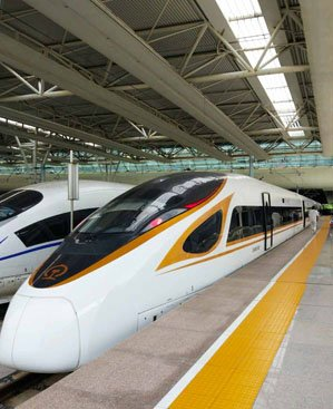"""""""Fuxinghao"""" high-speed train, the most fast train in China"""