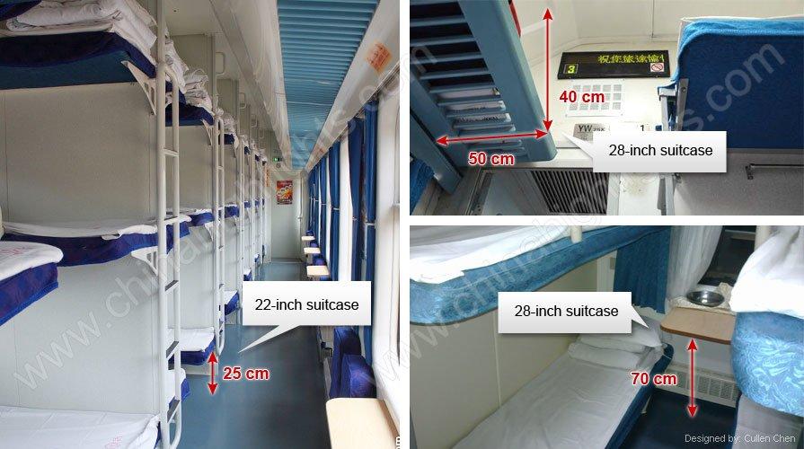 luggage rack on sleeper carriage